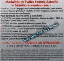 Modalités Magazine Femme Actuelle remboursé