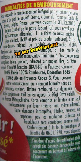 Modalités Fromage Société Remboursé