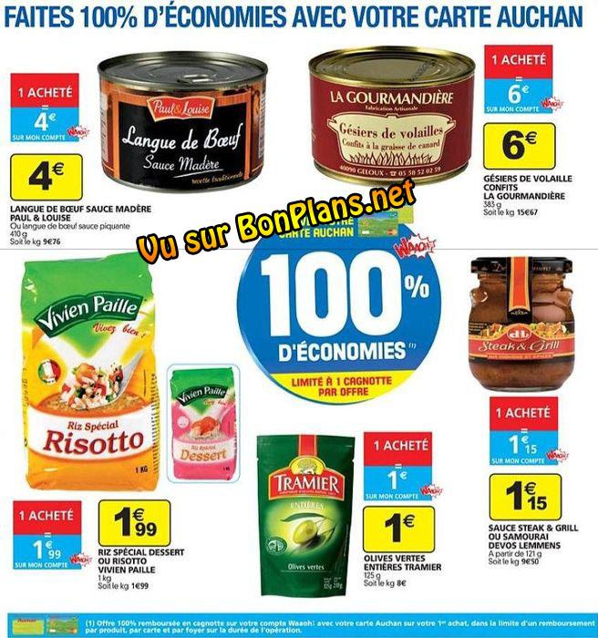 100% remboursé Auchan novembre 2010