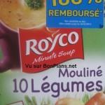 Soupe Royco 100% remboursé