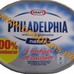 Fromage Philadelphia 100% remboursé