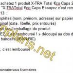 Modalités Lessive X-TRA 100% remboursé