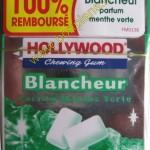 Chewing gum Hollywood Blancheur 100% remboursé